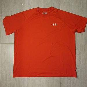 Under Armour Loose Fit Heat Gear T-Shirt XL Orange